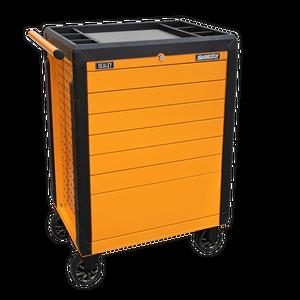 Bilde av Rollcab 7 Drawer Push-To-Open Hi-Vis Orange